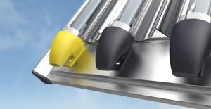 Solarkollektoren für Wärme vom Dach
